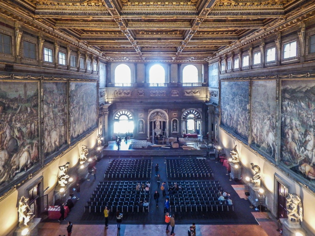 florence italy palazzo vecchio hall five hundred