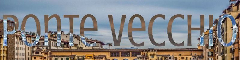 florence italy ponte vecchio banner