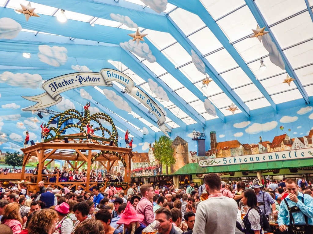 inside the Hacker Pschorr tent at oktoberfest in Munich Germany & Do This Not That // Oktoberfest u2013 My Wanderlusty Life
