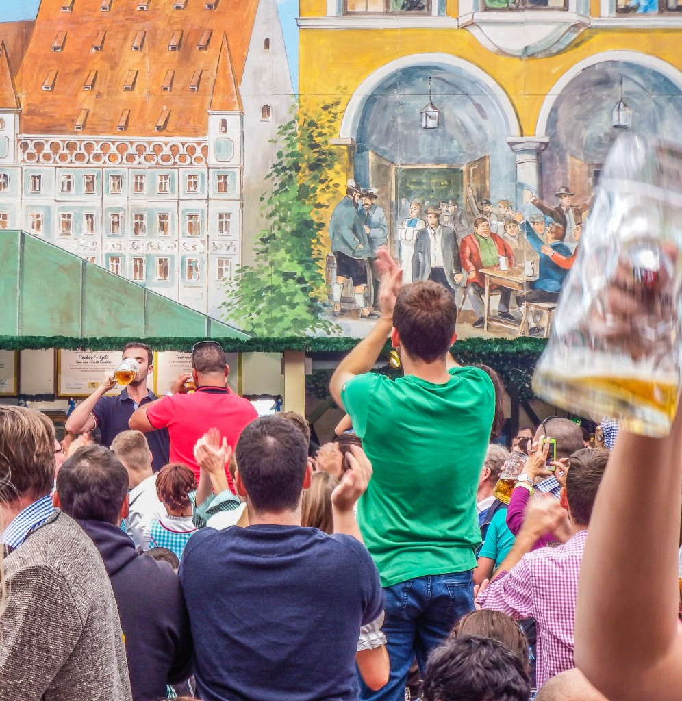 oktoberfest munich germany chugging