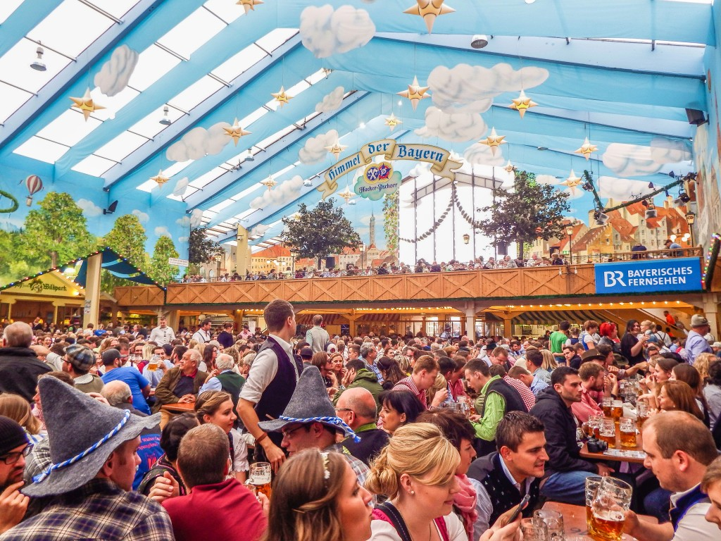 Hacker Pschorr beer tent at oktoberfest in Munich Germany  sc 1 st  My Wanderlusty Life & Do This Not That // Oktoberfest u2013 My Wanderlusty Life