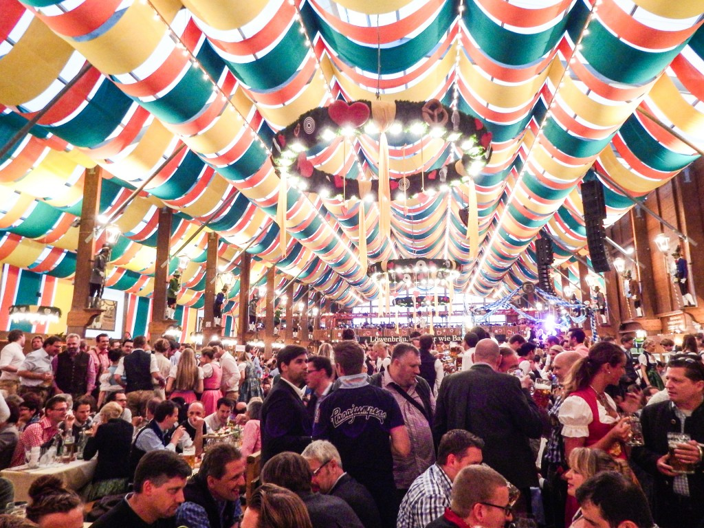 oktoberfest munich germany beer tent