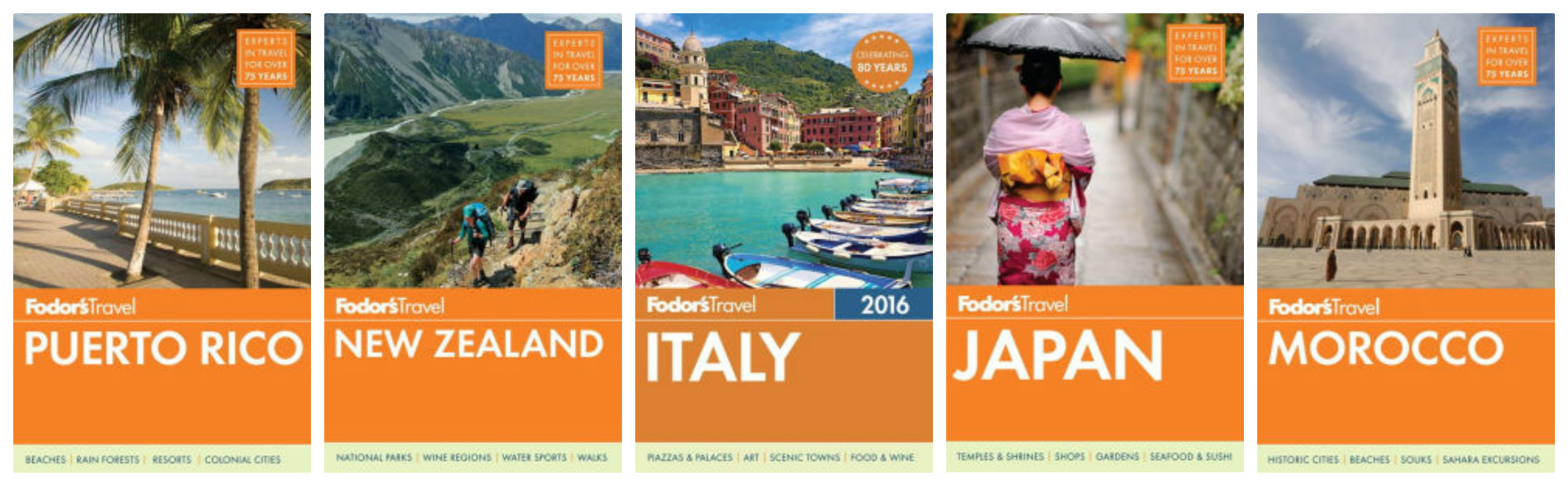 I love Fodor's travel guidebooks.