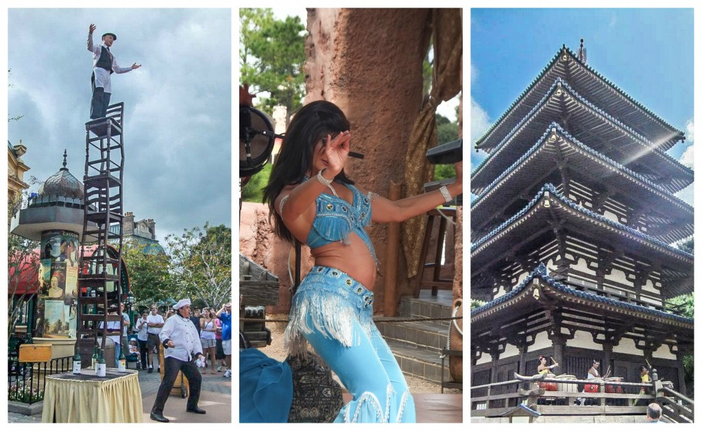 EPCOT Food & Wine Festival // France chairs, belly dancing in Morocco, drummers in Japan