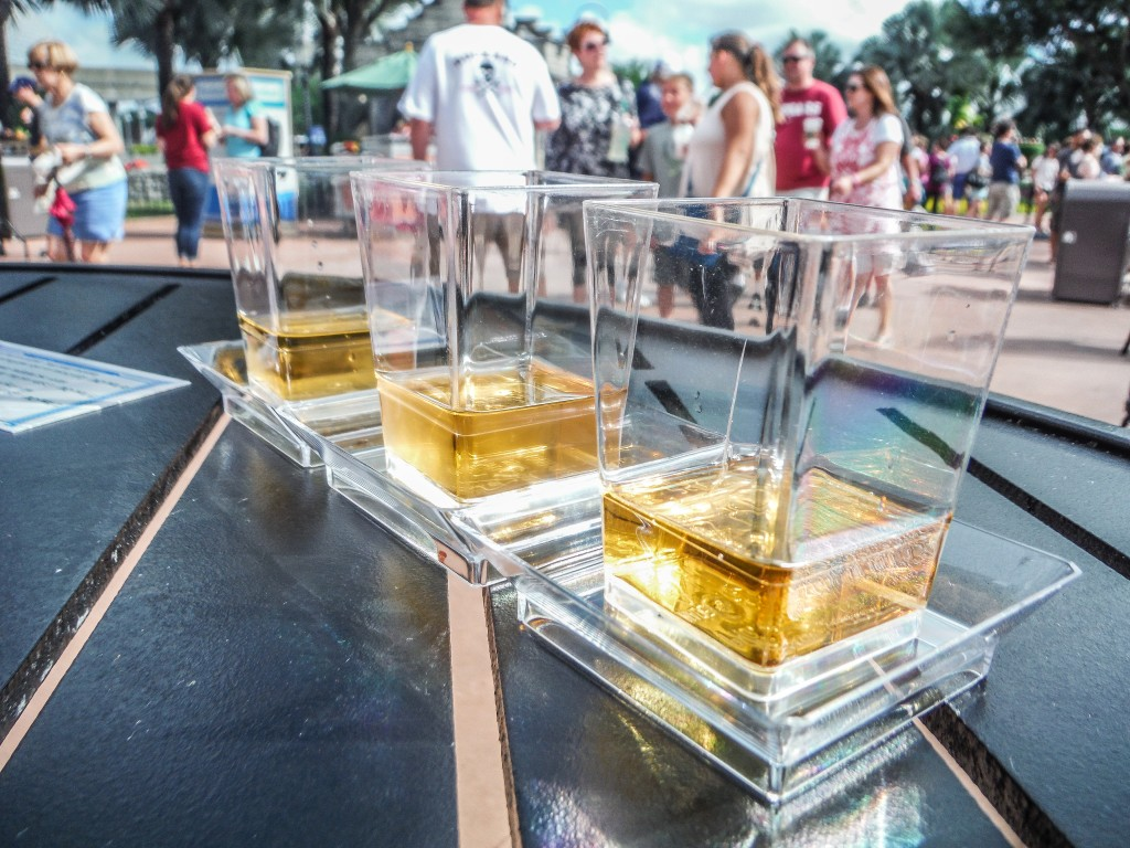 Scotch flight at EPCOT Food & Wine Festival