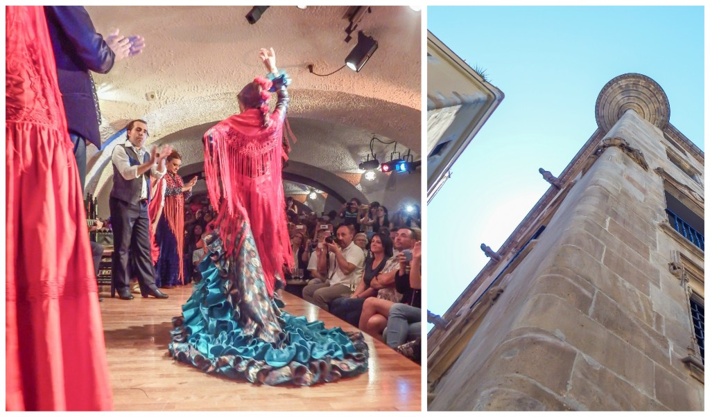 Flamenco show and gothic quarter on our first day in Barcelona, Spain