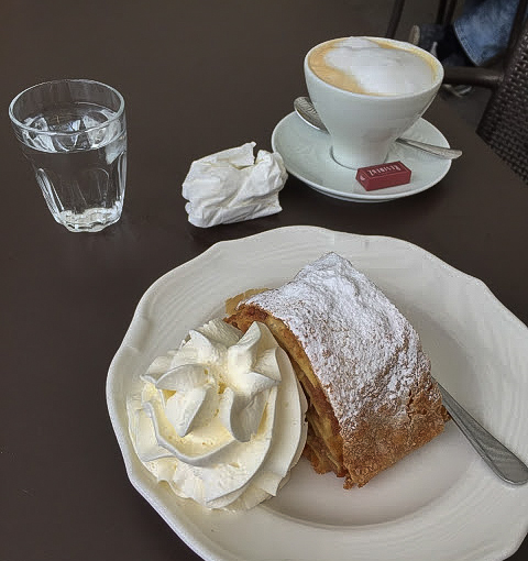 Apple Strudel in Vienna, Austria