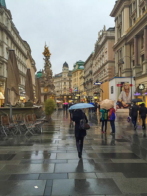 Shoppers in Vienna, Austria