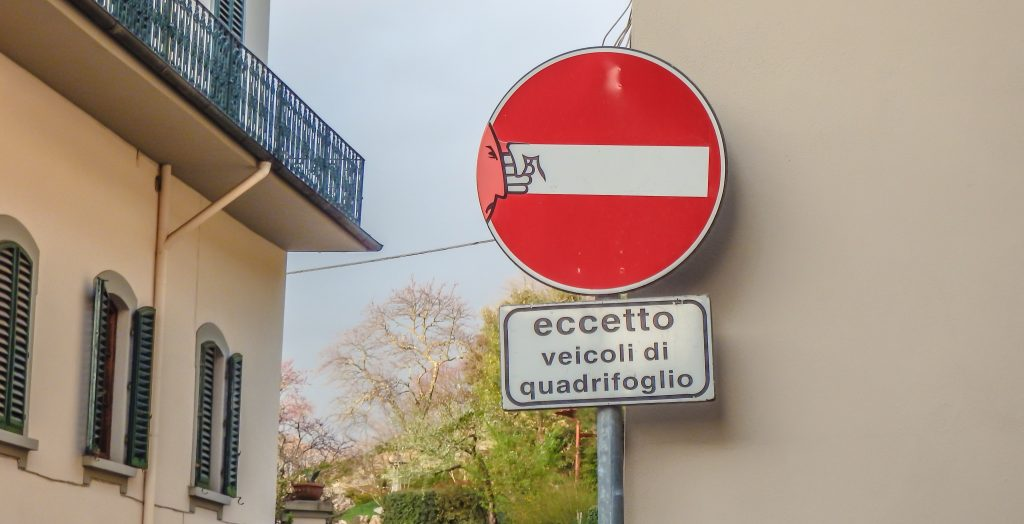 Street sign in Florence, Italy
