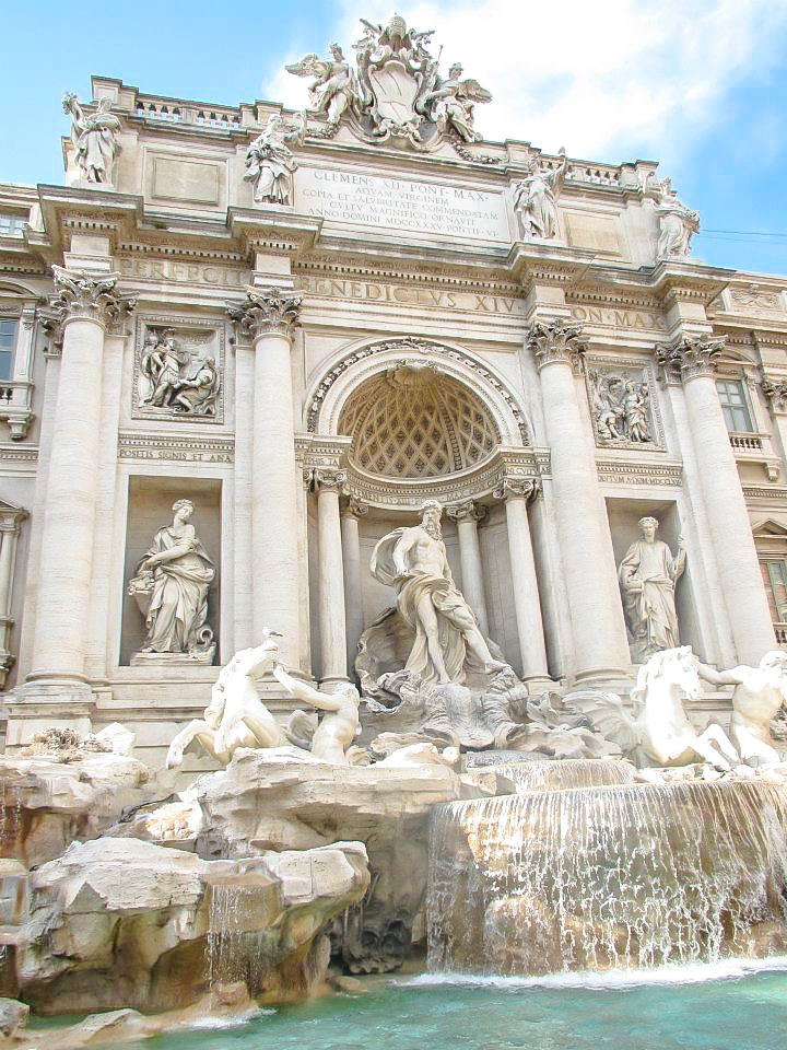 Visiting the Trevi Fountain during 2 days in Rome, Italy