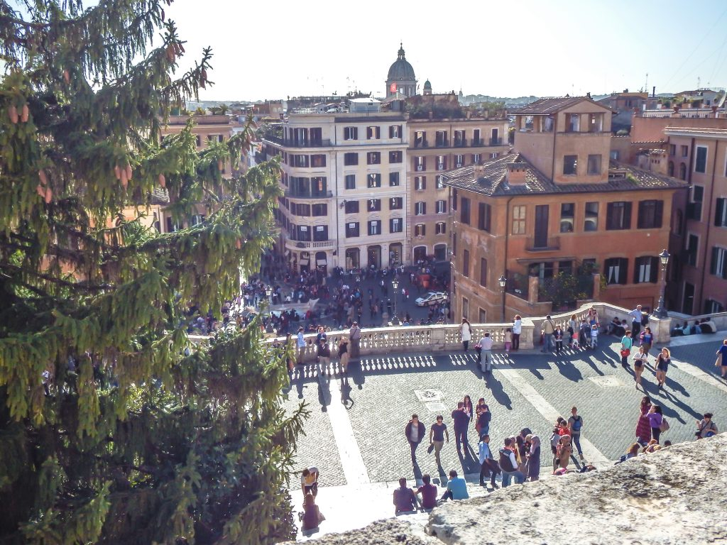 Visiting the Spanish Steps during 2 days in Rome, Italy