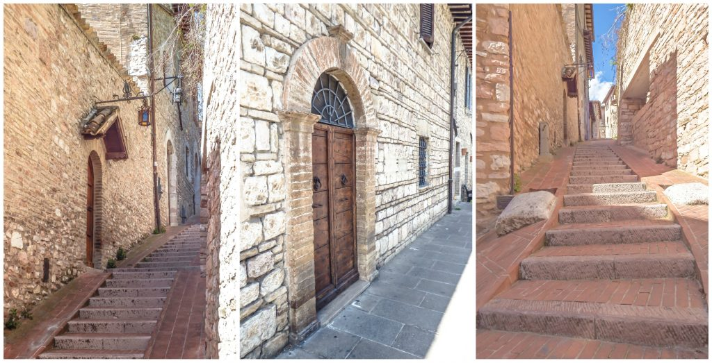 Exploring the medieval streets of this small Umbrian town during a day trip to Assisi, Italy