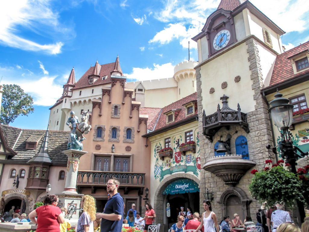 Epcot Center's Germany at Disney World where every day is Oktoberfest
