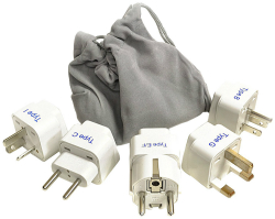 Don't forget your international power adapters when traveling abroad!