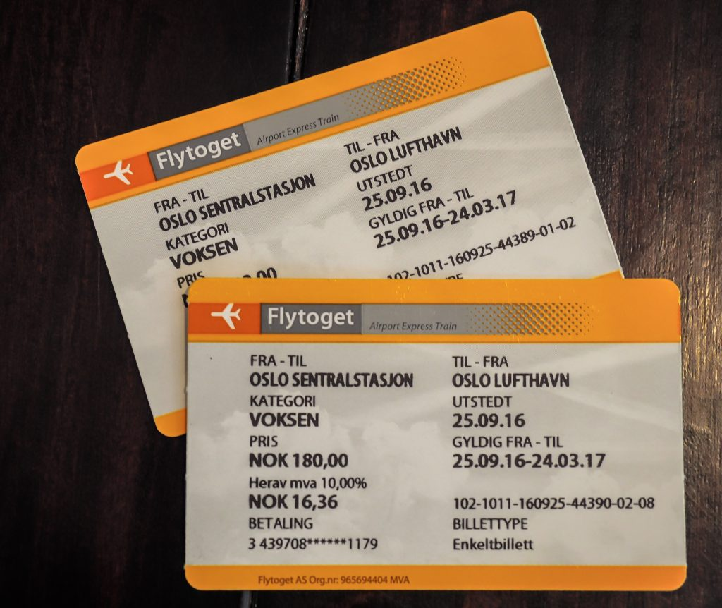 How to get from the airport to Oslo city center -- the Flytoget