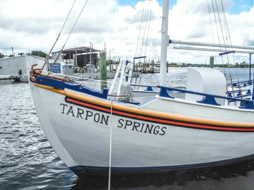 Boat at the Sponge Docks in Tarpon Springs, Florida