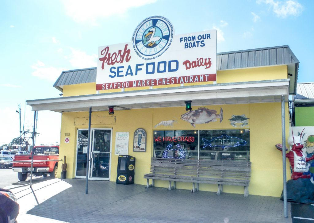 Fish market at the Sponge Docks in Tarpon Springs, Florida